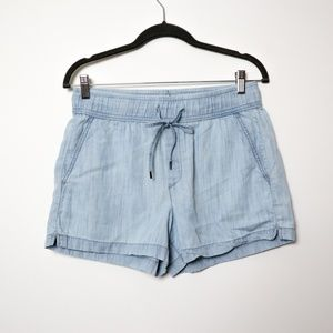 Gap | Chambray Pocketed Drawstring Shorts S